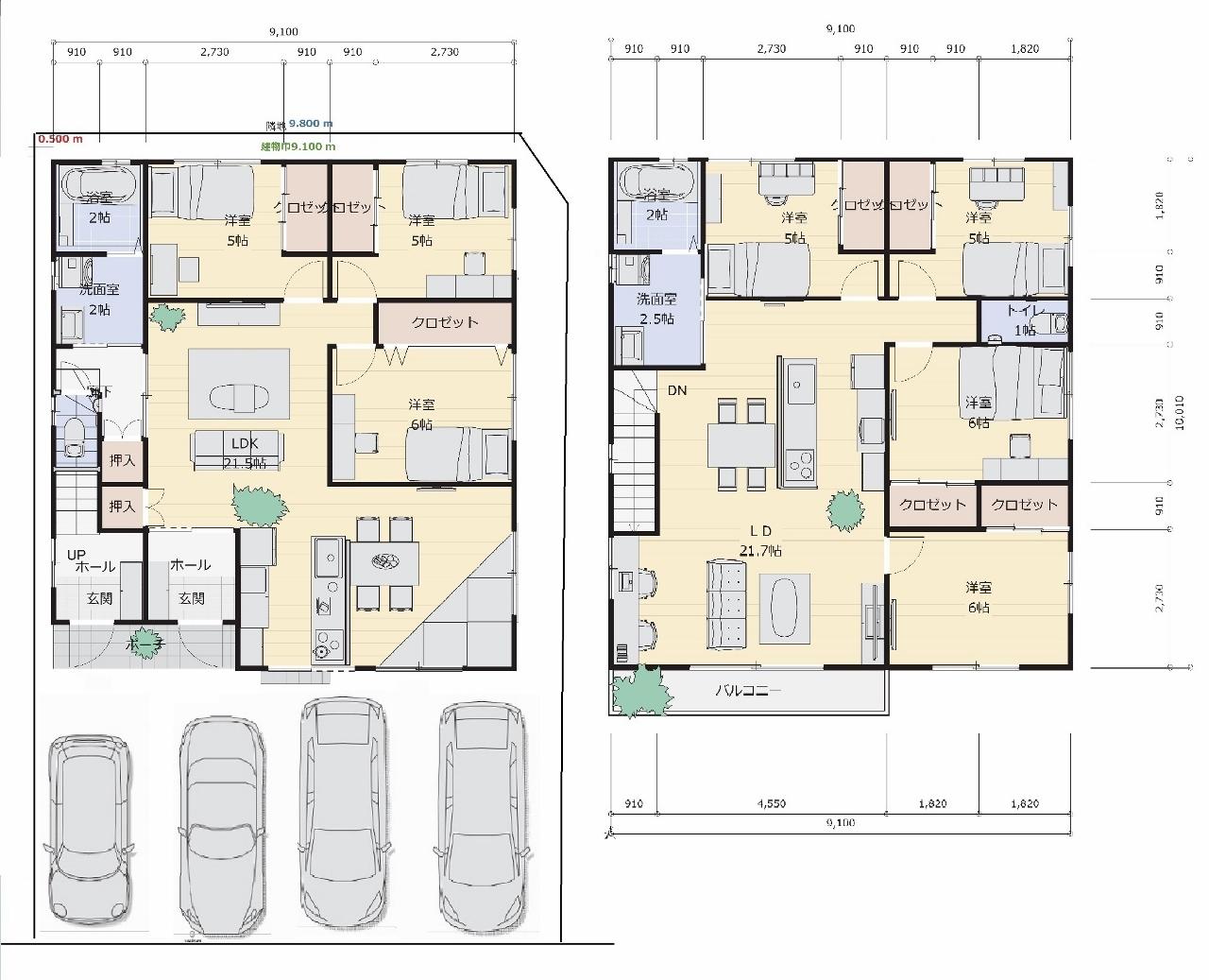 狭小住宅のプラン集 | 株式会社建築システム