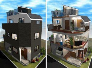 建築システム 0円サポート3Dデザインイメージ